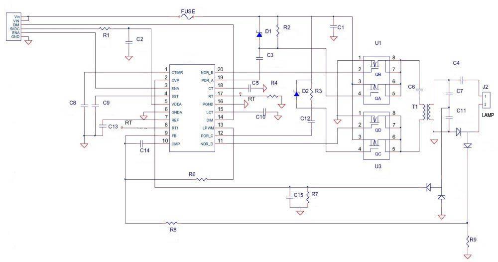 схема инвертора подсветки ноутбука