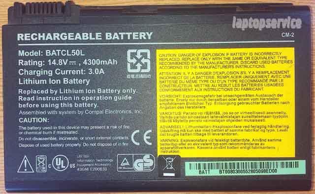 Батарея для ноутбуков Acer Aspire 9100