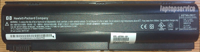 Батарея для ноутбуков HP Pavilion DV1000