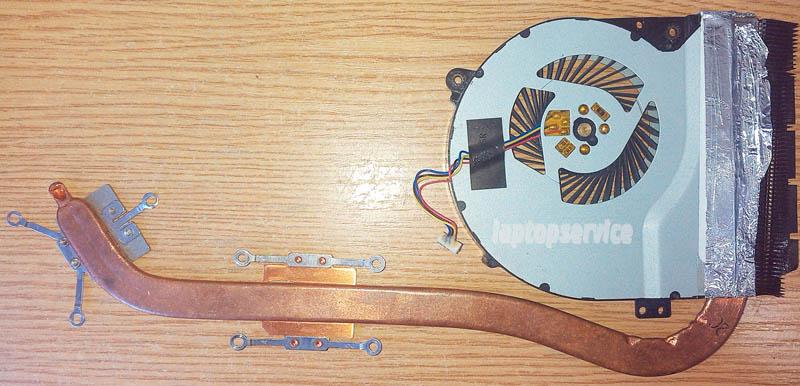Система охлаждения ноутбука Asus X550