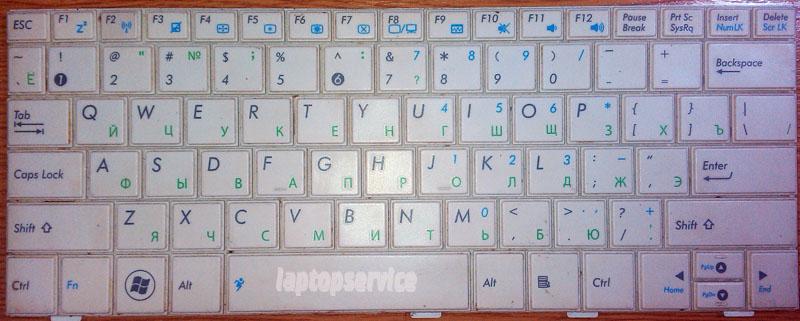 Клавиатура для ноутбука Asus Eee PC 1001