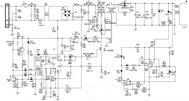 схема зарядного устройства ноутбука